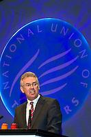 Steve Sinnott, NUT General Secretary, speaking at the NUT Conference