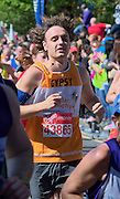 London. United Kingdom. 2014 London Marathon.  Narrow Street Limehouse, East London. Athletics 12:20:19  Sunday  13/04/2014  [Mandatory Credit; Peter SPURRIER/ Intersport Images],
