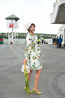 Carol Kennelly from Kerry  finalist in the Anthony Ryan's Best Dressed ladies day at the Galway . Photo:Andrew Downes.Photo issued with Compliments, No reproduction fee on first use