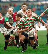 1997 Heineken European Cup,  Quins vs Leicester Tigers, Stoop 18-4-98 Leicester scrum half Jamie Hamilton,    [Mandatory Credit, Peter Spurrier/ Intersport Images]