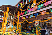 Overview of the La Casa De La Santa Muerte or House of the Saint of the Dead November 1, 2017 in Santa Ana Chapitiro, Michoacan, Mexico.