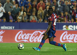 May 13, 2018 - Valencia, Valencia, Spain - Emmanuel Boateng of Levante UD scores a goal during the La Liga match between Levante and FC Barcelona, at Ciutat de Valencia Stadium, on may 13, 2018  (Credit Image: © Maria Jose Segovia/NurPhoto via ZUMA Press)