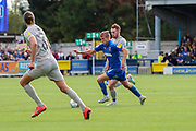 AFC Wimbledon attacker Marcus Forss (15) dribbling during the EFL Sky Bet League 1 match between AFC Wimbledon and Portsmouth at the Cherry Red Records Stadium, Kingston, England on 19 October 2019.