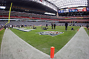 Seattle Seahawks players warm up under the closed Reliant Stadium dome roof prior to the NFL football game against the Houston Texans on December 13, 2009 in Houston, Texas. ©Paul Anthony Spinelli