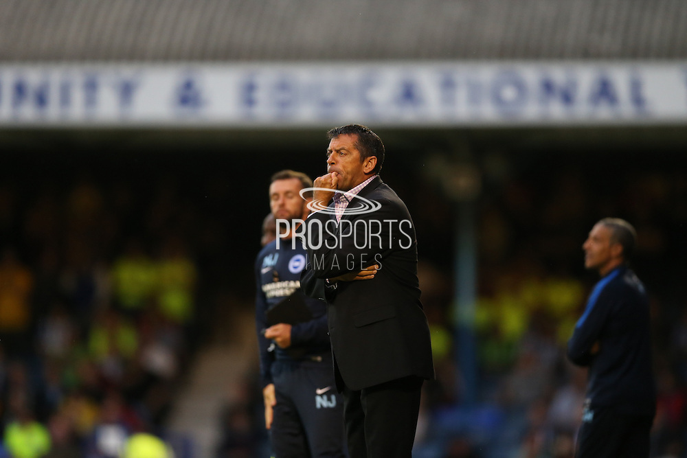 Southend United manager Phil Brown during the Capital One Cup match between Southend United and Brighton and Hove Albion at Roots Hall, Southend, England on 11 August 2015.