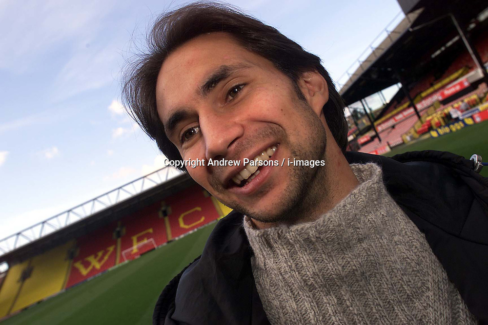 Hornets Nest, Watford F.C..Watfords French player Alex Bonnot, February 21, 2000. Photo by Andrew Parsons / i-images..