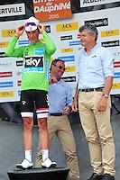 Hinault Bernard / Thevenet Bernard / Victoire de  Kennaugh Peter - Sky - 07.06.2015 - Etape 1 - Criterium du Dauphine 2015 - Ugine /  Albertville<br />Photo : Sirotti / Icon Sport