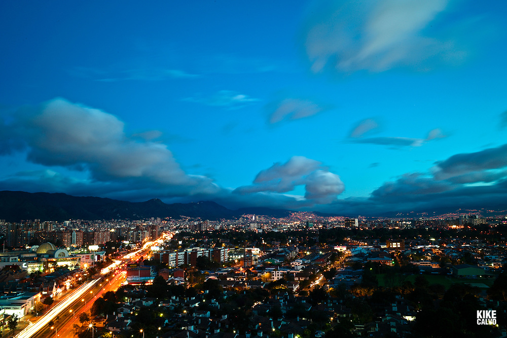 Aerial view of the North of Bogota