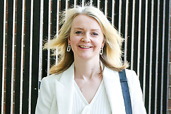 © Licensed to London News Pictures. 30/04/2019. London, UK. Liz Truss - Chief Secretary to the Treasury departs from No 10 Downing Street after attending the weekly Cabinet meeting. Photo credit: Dinendra Haria/LNP