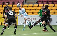 FODBOLD: Matheus Leiria (FC Helsingør) afslutter under kampen i ALKA Superligaen mellem FC Helsingør og AC Horsens den 18. februar 2018 på Right to Dream Park i Farum. Foto: Claus Birch.