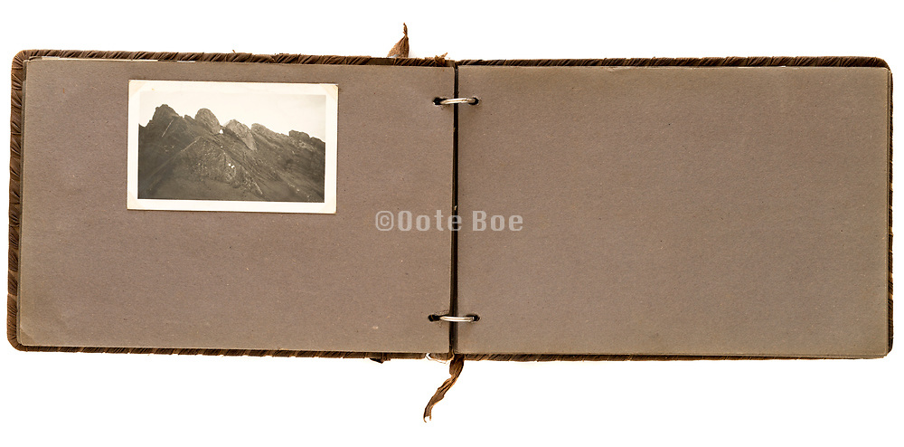 family photo album with adventure travel photographs 1930s - 1940s