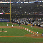 Mark Teixeira batting during the New York Yankees V Boston Red Sox Baseball game which the New York Yankees beat Boston Red Sox 14-2 to become American League East champions at Yankee Stadium, The Bronx, New York. 4th October 2012. Photo Tim Clayton