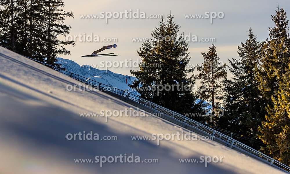 28.01.2017, Casino Arena, Seefeld, AUT, FIS Weltcup Nordische Kombination, Seefeld Triple, Skisprung, im Bild Samuel Costa (ITA) // Samuel Costa of Italy in action during his Trail Jump of Skijumping of the FIS Nordic Combined World Cup Seefeld Triple at the Casino Arena in Seefeld, Austria on 2017/01/28. EXPA Pictures © 2017, PhotoCredit: EXPA/ JFK