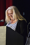 Bellmore, New York, USA. July 21, 2016. Actress CATHY MORIARITY, who was Vikki LaMotta in Raging Bull when she was a teenager, introduces Lifetime Achievement honoree Ed Asner at the19th Annual Long Island International Film Expo Awards Ceremony, LIIFE 2016, held at the historic Bellmore Movies. LIIFE was called one of the 25 Coolest Film Festivals in the World by MovieMaker Magazine.