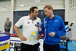 20180110 NED: CEV CUP Sliedrecht Sport - Beziers Angels VB: Sliedrecht<br />Cyril Ong Vathanara, headcoach of Beziers VB, Matt van Wezel, headcoach of Sliedrecht Sport <br />&copy;2018-FotoHoogendoorn.nl / Pim Waslander
