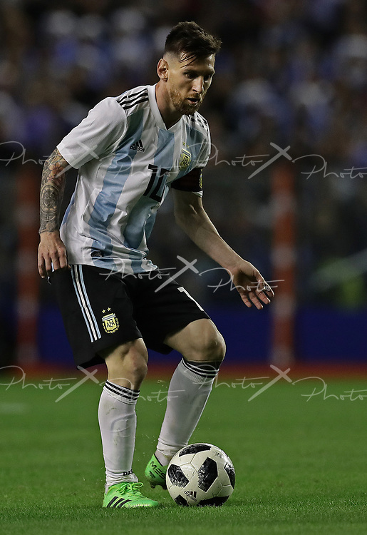 Argentina's Lionel Messi controls the ball during the international friendly football match against Haiti at Boca Juniors' stadium La Bombonera in Buenos Aires, on May 29, 2018. (Alejandro PAGNI / PHOTOXPHOTO)