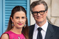 © Licensed to London News Pictures. 16/07/2018. London, UK. Livia Firth and Colin Firth attends the Mamma Mia! Here We Go Again World Film Premiere at Eventime Apollo Hammersmith. Photo credit: Ray Tang/LNP