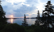 Sunset over Penobscot Bay, Vinalhaven, Maine.