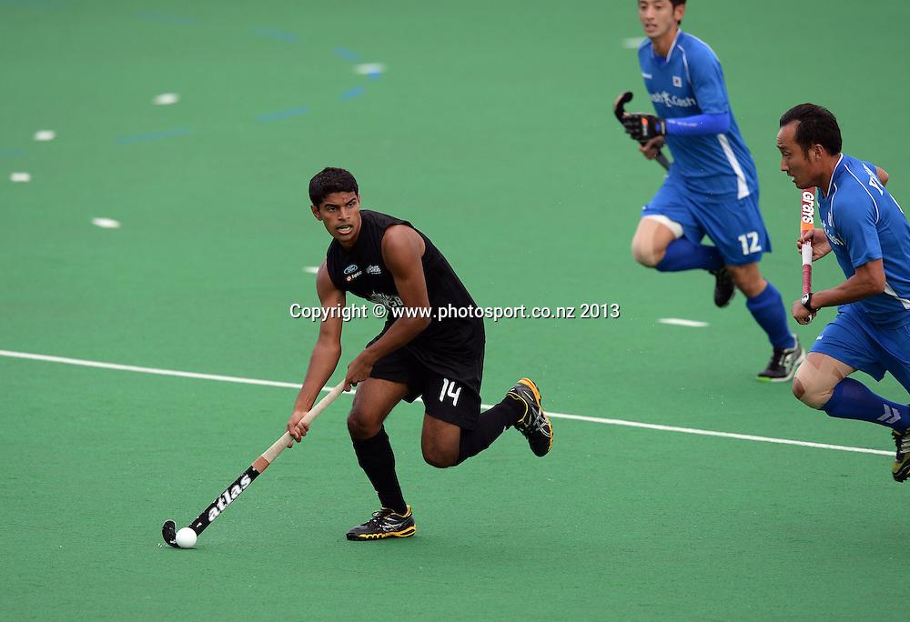 Jared Panchia during the 3rd Hockey test match. New Zealand Men's Blacks Sticks v Korea. Saturday 18 May 2013. Pukekohe, Auckland. New Zealand. Photo: Andrew Cornaga / photosport.co.nz
