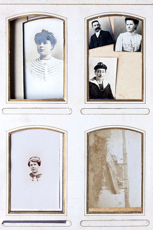 page from family album France 1900s