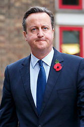 © Licensed to London News Pictures. 03/11/2015. London, UK. Prime Minister David Cameron attending a memorial service for ex-Liberal Democrat leader Charles Kennedy at St George's Cathedral in London on Tuesday, 3 November, 2015. Mr Kennedy died suddenly on June 1, 2015 at the age of 55 after suffering a major haemorrhage as a result of a long battle with alcoholism. Photo credit: Tolga Akmen/LNP
