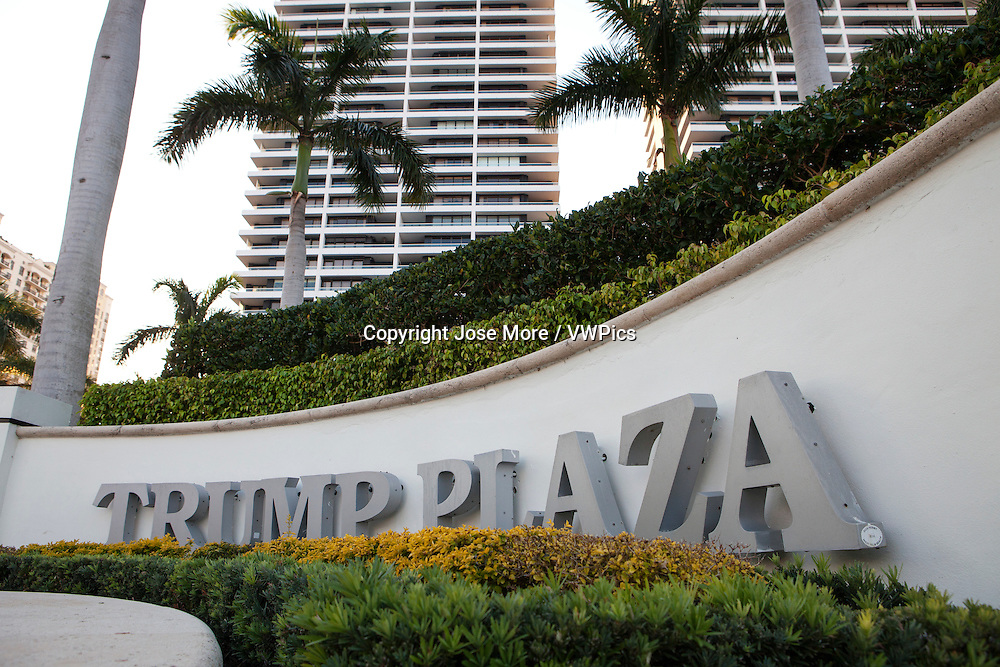 Trump Plaza condominiums on Flagler Drive in West Palm Beach.
