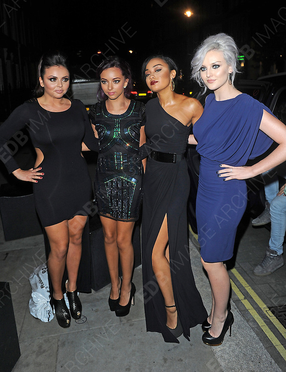 16.OCTOBER.2012. LONDON<br /> <br /> LITTLE MIX ARRIVING AT THE ATTITUDE AWARDS AT ONE MAYFAIR, LONDON<br /> <br /> BYLINE: EDBIMAGEARCHIVE.CO.UK<br /> <br /> *THIS IMAGE IS STRICTLY FOR UK NEWSPAPERS AND MAGAZINES ONLY*<br /> *FOR WORLD WIDE SALES AND WEB USE PLEASE CONTACT EDBIMAGEARCHIVE - 0208 954 5968*