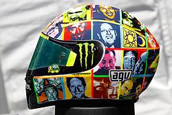 24.07.2010, Laguna Seca, USA, MotoGP, Red Bull U.S. Grand Prix  2010, qualifying, im Bild new Helmets of Valentino Rossi - Fiat Yamaha team .EXPA Pictures © 2010, PhotoCredit EXPA InsideFoto Semedia +++++ ATTENTION - FOR AUSTRIA AND SLOVENIA CLIENT ONLY +++++ / SPORTIDA PHOTO AGENCY