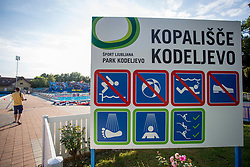 During water polo match between VKL Ljubljana Slovan and AVK Triglav Kranj in 3rd Round of Final of Slovenian Water polo National Championship, on June 16, 2018 in Kodeljevo, Ljubljana, Slovenia. Photo by Urban Urbanc / Sportida