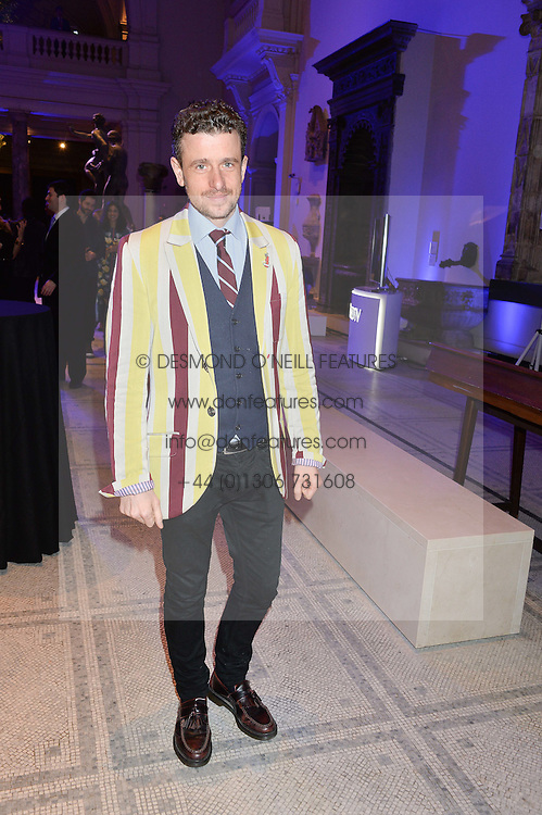 HAMISH JENKINSON at a private view of Alexander McQueen's Savage Beauty exhibition hosted by Samsung BlueHouse at the V&A, London on 30th March 2015.