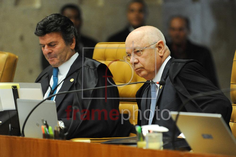 O ministro relator do processo Teori Zavascki no plenário do STF na tarde desta quarta-feira, 16/03/2016. Hoje o Supremo deve definir as regras para o processo de impeachment da presidente Dilma Rousseff na Câmara dos Deputados. Foto: Andressa Anholete/FramePhoto