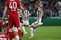 27.09.2017 - Torino - Champions League   -  Juventus-Olympiakos nella  foto: Gonzalo Higuain segna il gol dell' 1 a 0