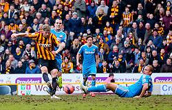 Bradford City's Jon Stead scores his sides second goal - Photo mandatory by-line: Matt McNulty/JMP - Mobile: 07966 386802 - 15/02/2015 - SPORT - Football - Bradford - Valley Parade - Bradford City v Sunderland - FA Cup - Fifth Round