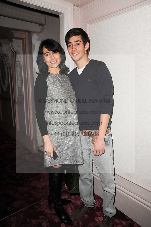 Actor MAX BALDRY and his mother KARINE BALDRY at a Russian Christmas and New Year Performance of Cinderella at the Shaftesbury Theatre, London on 5th December 2010.