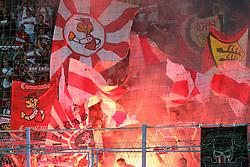 22.08.2013, Stadion Kantrida, Rijeka, CRO, UEFA EL Qualifikation, HNK Rijeka vs VfB Stuttgart, Hinspiel, im Bild Fans of Stuttgart // during the UEFA Europa League Qualification first leg match between HNK Rijeka and VfB Stuttgar at Kantrida Stadium in Rijeka, Croatia on 2013/08/22. EXPA Pictures © 2013, PhotoCredit: EXPA/ Pixsell/ Igor Kralj<br /> <br /> ***** ATTENTION - for AUT, SLO, SUI, ITA, FRA only *****