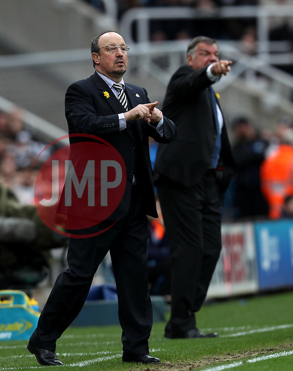 Newcastle United Manager Rafa Benitez and Sunderland Manager Sam Allardyce - Mandatory byline: Robbie Stephenson/JMP - 20/03/2016 - FOOTBALL - ST James Park - Newcastle, England - Newcastle United v Sunderland - Barclays Premier League