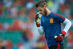 September 11, 2018 - Elche, Alicante, Spain - De Gea of Spain during the UEFA Nations League football match between Spain and Croatia at Martinez Valero Stadium in Elche on September 11, 2018  (Credit Image: © Sergio Lopez/NurPhoto/ZUMA Press)