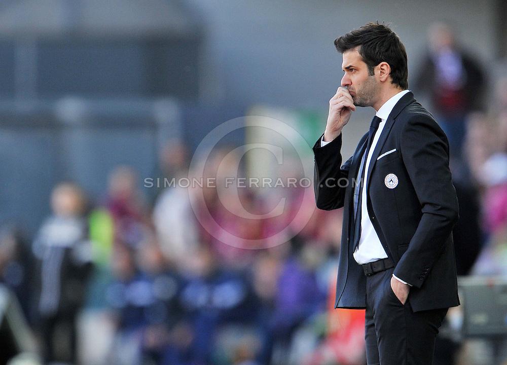 Udine, 08 marzo 2015<br /> Serie A 2014/2015. 26^ giornata.<br /> Stadio Friuli.<br /> Udinese vs Torino.<br /> Nella foto: l'allenatore dell&rsquo;Udinese Andrea Stramaccioni.<br /> &copy; foto di Simone Ferraro