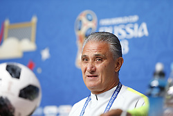 June 21, 2018 - SãO Petersburgo, Rússia - SÃO PETERSBURGO, MO - 21.06.2018: SELEÇÃO TREINA EM SÃO PETERSBURGO - The Tite technician from Brazil during a press conference for the second round of the World Cup between Brazil and Costa Rica in St. Petersburg, Russia. (Credit Image: © Rodolfo Buhrer/Fotoarena via ZUMA Press)