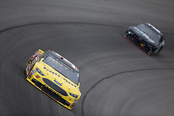 June 10, 2018 - Brooklyn, Michigan, United States of America - Matt DiBenedetto (32) races off turn one during the FireKeepers Casino 400 at Michigan International Speedway in Brooklyn, Michigan. (Credit Image: © Stephen A. Arce/ASP via ZUMA Wire)