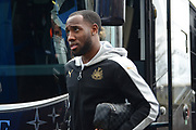 Newcastle United midfielder Vurnon Anita (8) gets off the team coach during the EFL Sky Bet Championship match between Birmingham City and Newcastle United at St Andrews, Birmingham, England on 18 March 2017. Photo by Alan Franklin.