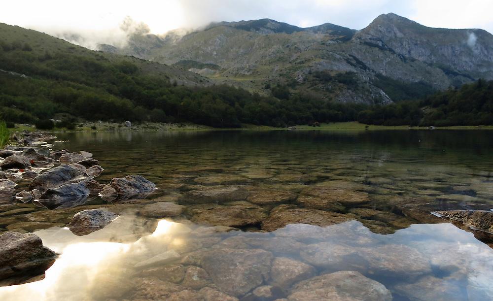 Trnovo Lake (Trnovacko Jezero), below the mountains of Volujak and Maglic. Bosnia and Herzegovina.