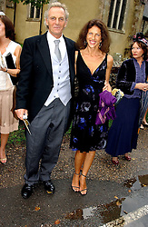 MARK & CLEO SHAND  at the wedding of Tom Parker Bowles to Sara Buys at St.Nicholas Church, Rotherfield Greys, Oxfordshire on 10th September 2005.<br />