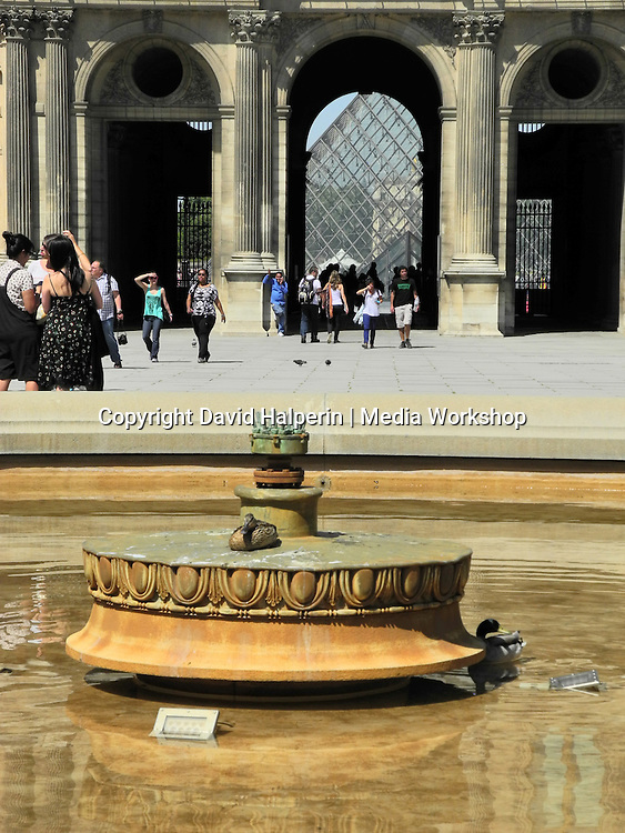Fountain, The Louvre, eastern courtyard