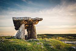 Poulnabrone dolmen. County Clare, Ireland