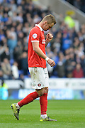 Charlton Athletic defender Patrick Bauer gets sent off during the Sky Bet Championship match between Reading and Charlton Athletic at the Madejski Stadium, Reading, England on 17 October 2015. Photo by Mark Davies.