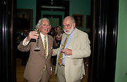 Hugh Thomas and Ion Trewin. Celebration of Lord Weidenfeld's 60 Years in Publishing hosted by Orion. the Weldon Galleries. National Portrait Gallery. London. 29 June 2005. ONE TIME USE ONLY - DO NOT ARCHIVE  © Copyright Photograph by Dafydd Jones 66 Stockwell Park Rd. London SW9 0DA Tel 020 7733 0108 www.dafjones.com