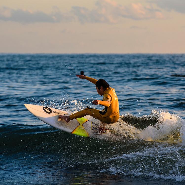 DECEMBER 28, 2015 - Surfing: Surfers at Kugenuma Beach in Fujisawa, Japan. <br /> <br /> (Photo by Ben Weller/AFLO) (JAPAN) [UHU]