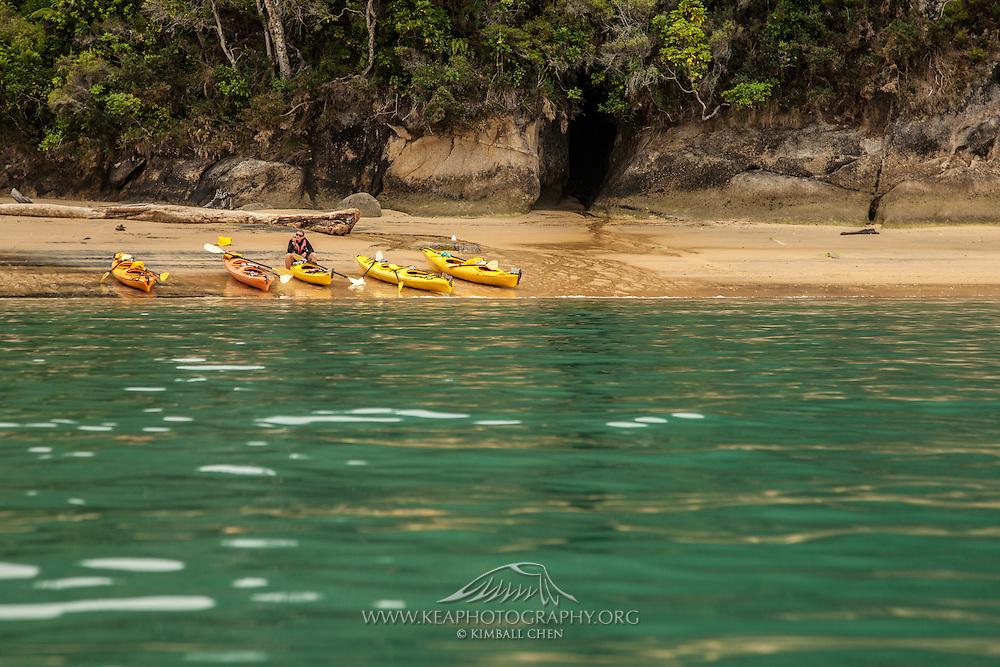 Kayaking at Abel Tasman, New Zealand