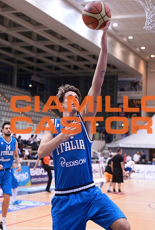 DESCRIZIONE : Trento Nazionale Italia Uomini Trentino Basket Cup Italia Belgio Italy Belgium<br /> GIOCATORE : Achille Polonara<br /> CATEGORIA : before<br /> SQUADRA : Italia Italy<br /> EVENTO : Trentino Basket Cup<br /> GARA : Italia Belgio Italy Belgium<br /> DATA : 12/07/2014<br /> SPORT : Pallacanestro<br /> AUTORE : Agenzia Ciamillo-Castoria/R.Morgano<br /> Galleria : FIP Nazionali 2014<br /> Fotonotizia : Trento Nazionale Italia Uomini Trentino Basket Cup Italia Belgio Italy Belgium
